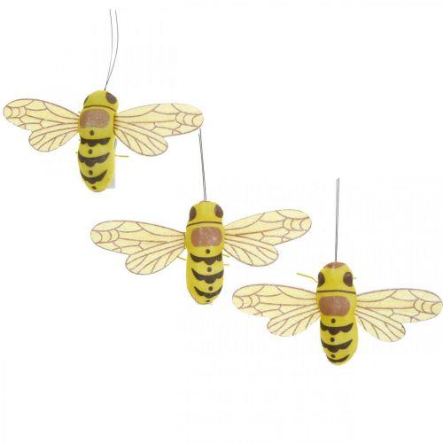 Clip decorativa ape, decorazione primaverile, ape con morsetto, decorazione regalo 3 pezzi
