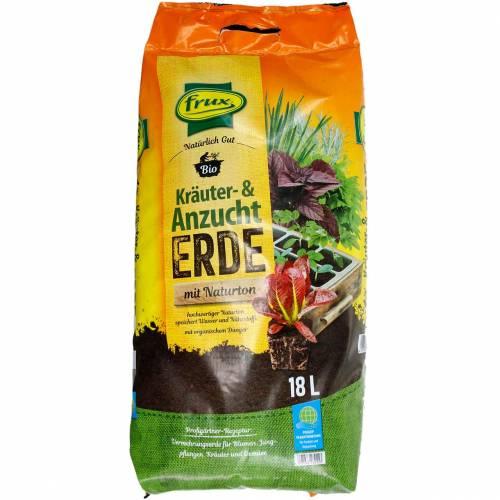 FRUX terriccio biologico per erbe e vasi con argilla naturale terriccio organico per erbe 18l