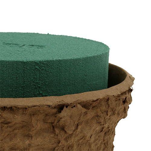 Ciotola in schiuma floreale bagnata per composizioni floreali Ø18cm 2 pezzi