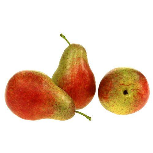 Pera rossa, verde 11 cm - 12 cm 3 pezzi