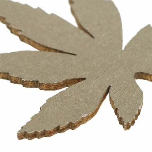 Decorazione da spargere Foglie di legno Giallo, Marrone, Platino Assortite 4cm 72pezzi