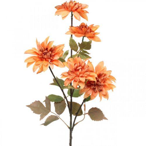 Fiore decorativo dalia, decorazione autunnale, fiore di seta arancione 55cm Ø9 / 11cm