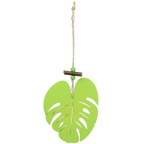 Foglia per appendere verde chiaro 14,5 cm
