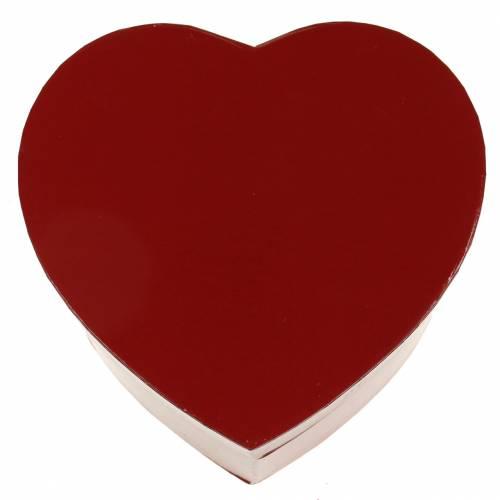 Fioriera cuore rosso 14 / 16cm set di 2