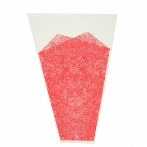 Borsa per fiori juta rossa L36cm L25cm - 12cm 50p