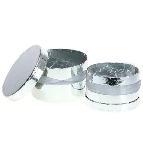 Fioriera argento Ø14 / 16cm 2 pezzi