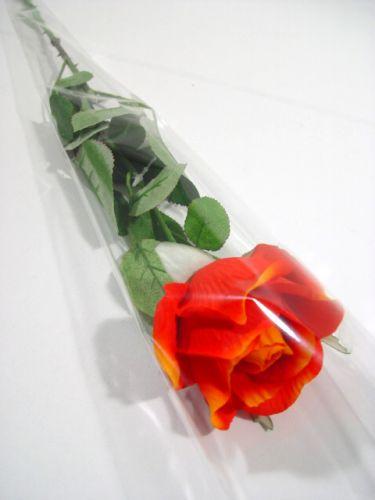 """Sacchetto di fiori per 1 rosa """"Blanko"""" L65cm L14cm - 3cm 50 pezzi"""