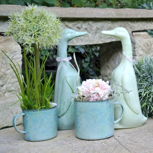 Vaso per piante Mandala smaltato Ø11cm H10cm
