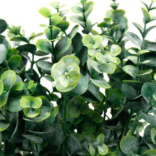 Ramo di eucalipto decorativo verde scuro Eucalipto artificiale Piante verdi artificiali 6pz