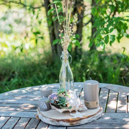 Bottiglia decorativa, bottiglia flip-top, vaso di vetro da riempire, portacandele