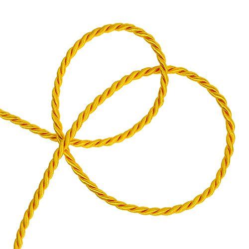 Cavo decorativo in giallo 4mm 25m