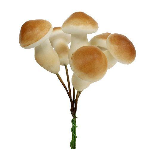 Fungo decorativo su filo 3 cm - 5 cm 24 pezzi