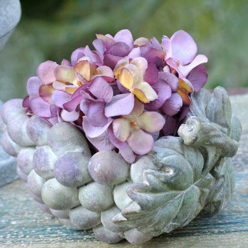 Ciotola decorativa uva grigio viola crema 19 × 14 cm H9,5 cm