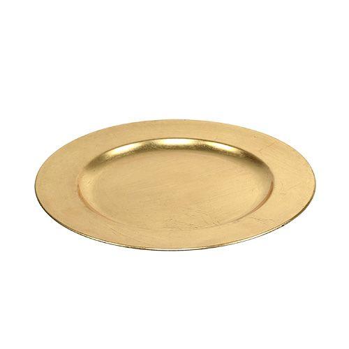 Piatto decorativo oro Ø28cm