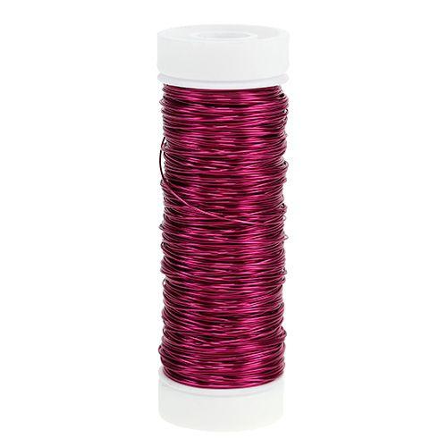 Filo decorativo laccato Ø0,30 mm 30 g / 50 m rosa