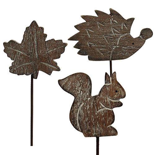 Spina fiore 5 cm - 6 cm Motivi autunnali 12 pezzi