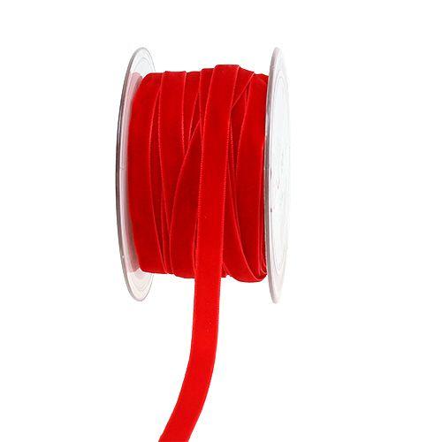 Nastro decorativo Velvet rosso 10mm 20m