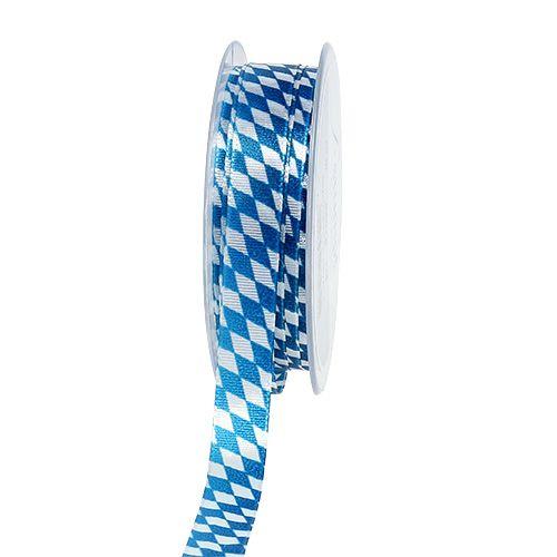 Nastro decorativo blu-bianco 15mm 20m