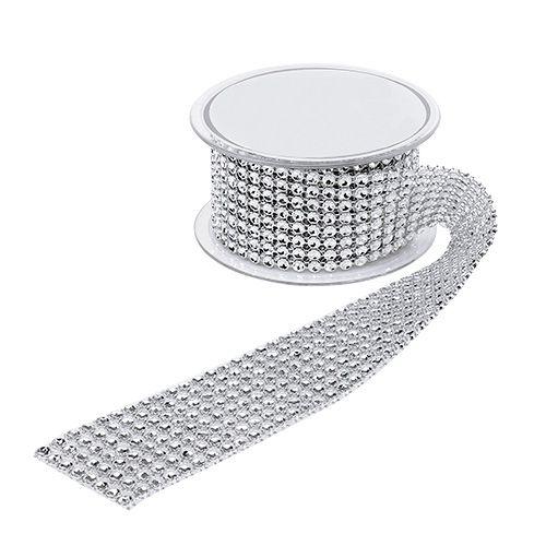 Nastro regalo per la decorazione con effetto stradale argento 40mm 2m