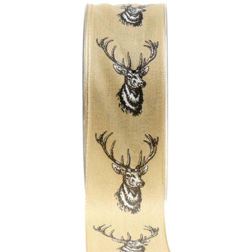 Nastro regalo per la decorazione natura con motivo cervo 40mm 20m