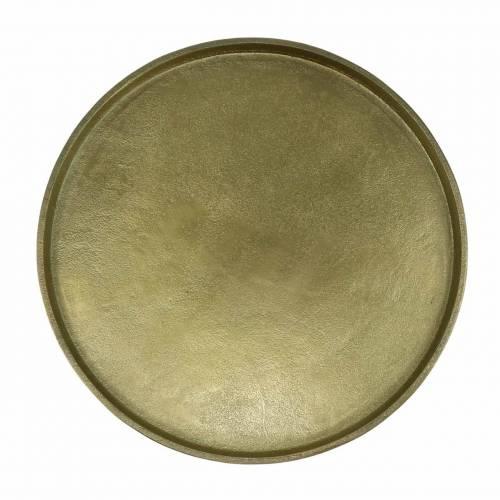 Piatto decorativo in argilla Ø20cm oro