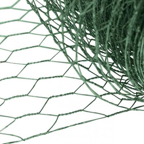 Maglia esagonale filo verde Rete metallica rivestita in PVC 50 cm × 10 m