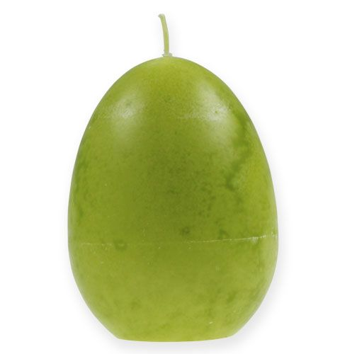 Candela uovo decorativa Verde limone 14cm