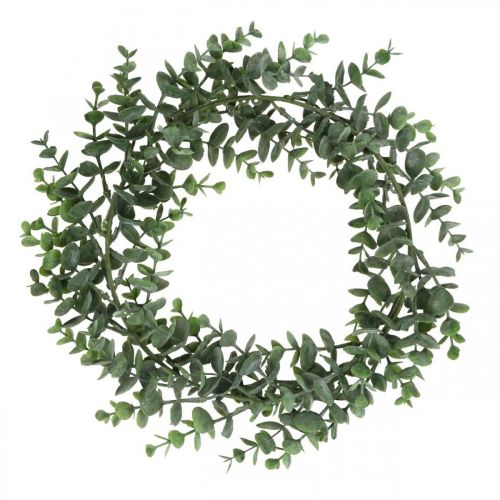 Ghirlanda decorativa verde eucalipto Ghirlanda di eucalipto artificiale Ø32cm