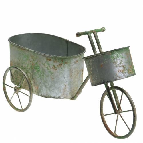 Bicicletta per fiori grigio zinco, verde 40 × 14 × 21 cm