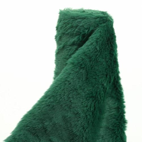 Nastro decorativo in pelliccia verde scuro 20 cm x 200 cm