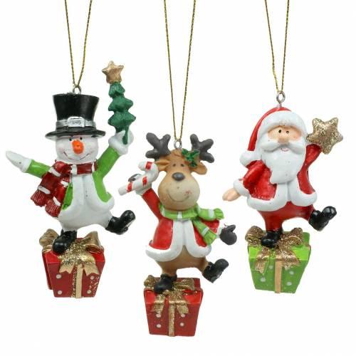 Figure natalizie 9 cm - 11 cm da appendere 3 pezzi