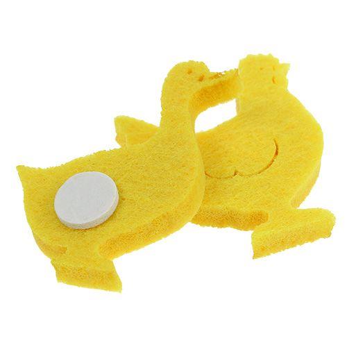 Anatra in feltro, pollo autoadesivo giallo 96 pezzi