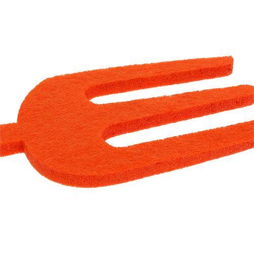 Sentivo l'attrezzo da giardino arancione 6 pezzi