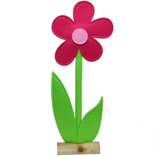 Fiore di feltro rosa 120 cm