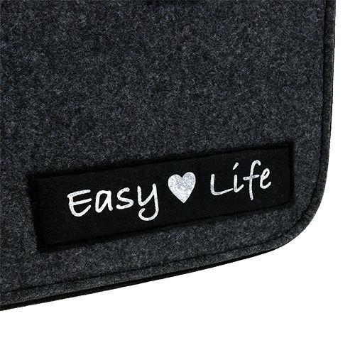 "Borsa in feltro ""Easy Life"" 39 cm x 22 cm x 25,5 cm Grigio"