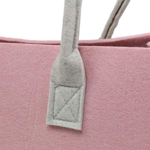 Borsa in feltro rosa 50 cm x 25 cm x 25 cm