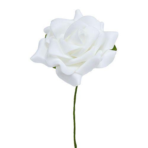 Schiuma-Rosa Ø 7,5 cm Bianco 18 pezzi