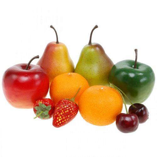 Frutti decorativi, mix di frutta artificiale L5–8,5 cm