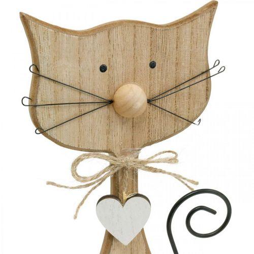 Figura della primavera, decorazione del gatto, figura in legno, decorazione della tavola, decorazione della casa di campagna 2 pezzi