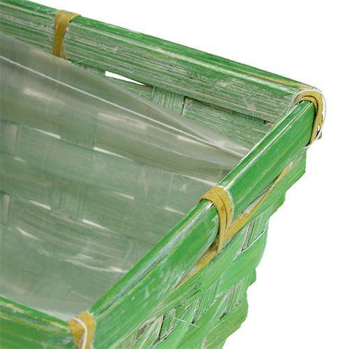 Cestini a molla quadrati multicolori 25x12x9cm 6 pezzi