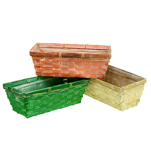 Spring Basket 25x13x9cm Arancione, Giallo, Verde 6 pezzi