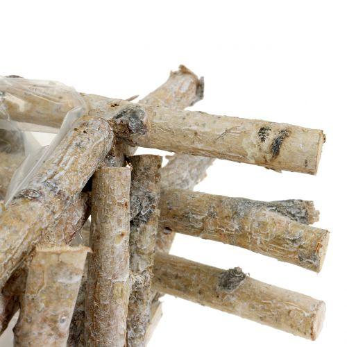 Rami di betulla fioriera lavato bianco 28 cm x 28 cm H10 cm