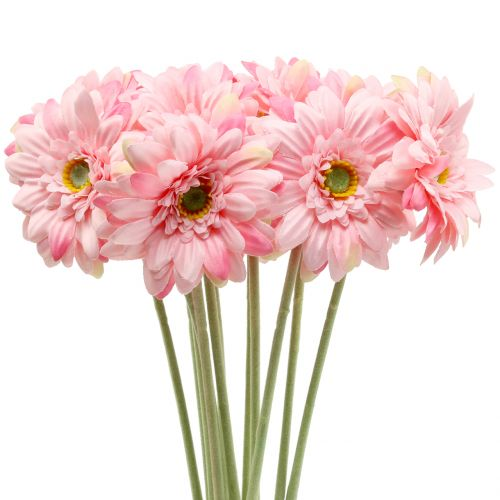 Gerbera rosa artificiale 47 cm 12 pezzi