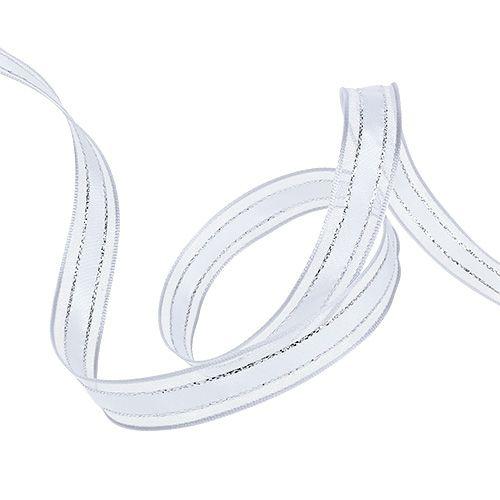 Nastro regalo con filo bianco 15mm 20m