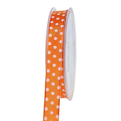 Nastro regalo con pois arancio 15mm 20m