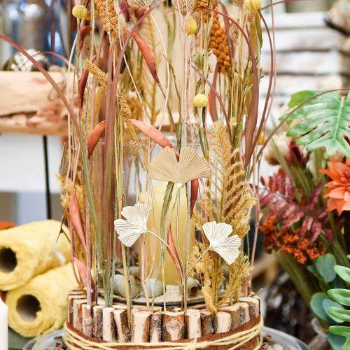 Spina decorativa in metallo ramo di ginkgo Ginkgo Golden 14 × 28 cm 6 pezzi