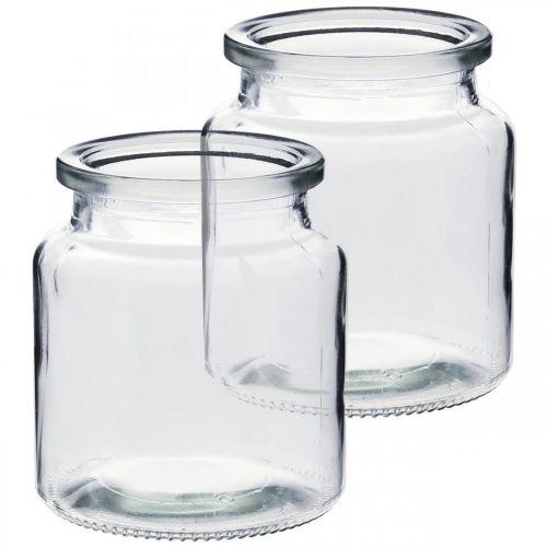Vaso di vetro per il riempimento, vaso di fiori, decorazione della tavola, lanterna di vetro 2 pezzi