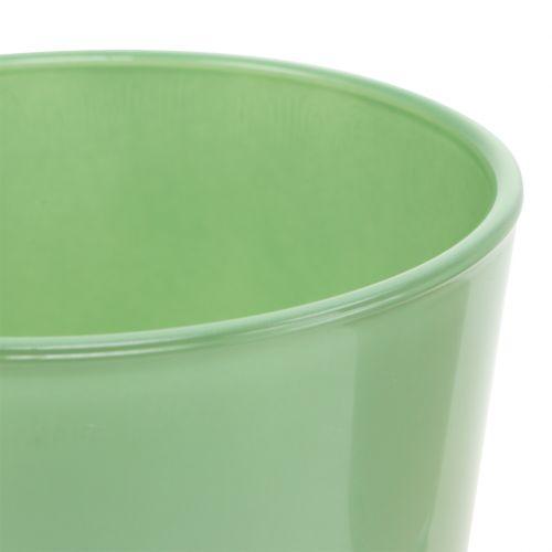 Vaso di vetro Ø10cm H8,5cm Verde menta