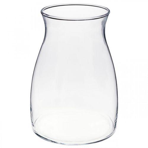 Vaso decorativo in vetro trasparente vaso di fiori in vetro Ø11cm H20cm