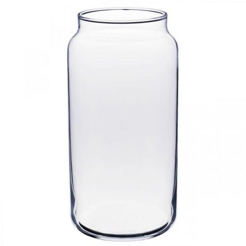 Vaso per fiori in vetro vaso in vetro trasparente decorazione da tavola Ø8cm H20cm